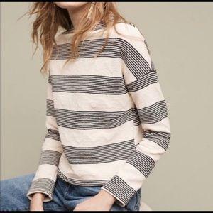 Anthropologie Eri Ali Striped Sweater Sweatshirt